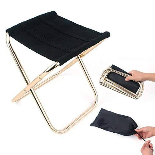 Portable Collaspable Step Stool Mini Sturdy Fishing Hiking BBQ Outdoor Beach Seat Lightweight Aluminum Camping Foldable Chair