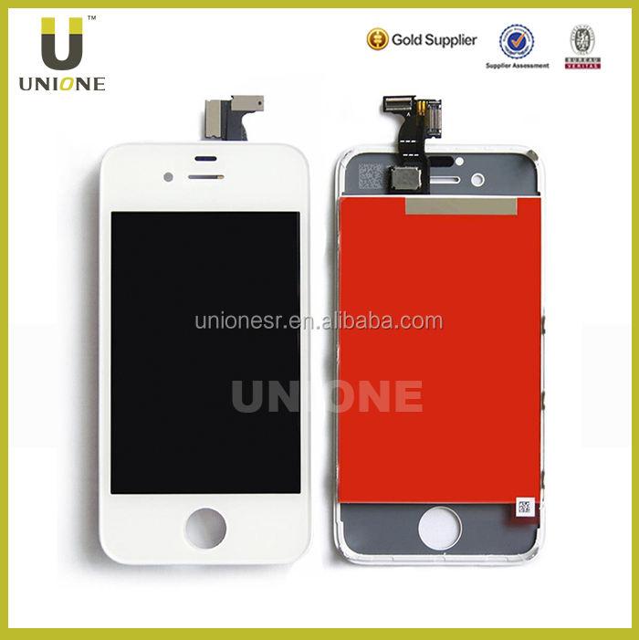 مصنع سعر الهاتف المحمول شاشة lcd لمسة فون 4, لتصنيع المعدات الأصلية/ 4 فون الأصلي شاشة عرض lcd
