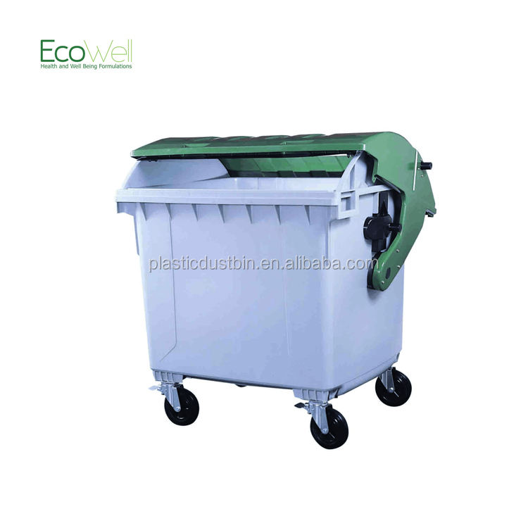 1100L Industry Domed Lid Trash Recycle Waste Bin