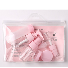 Mini travel bottle set for cosmetic packaging, plastic travel set cosmetic container, travel kit plastic bottles
