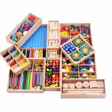 Froebel Environmental Kids wooden educational toy set with 15 types teaching AIDS