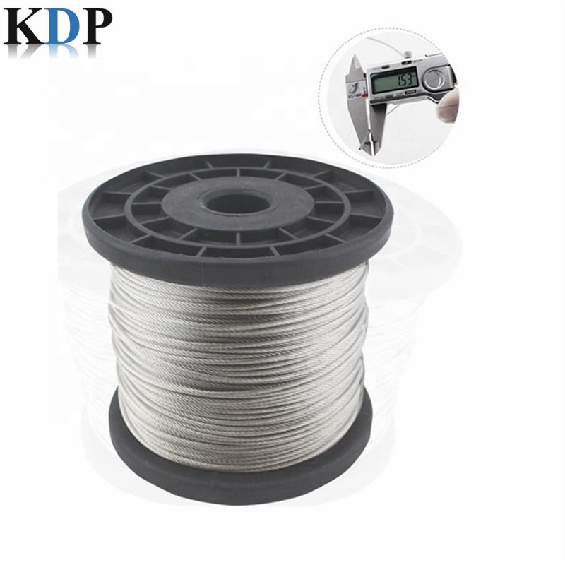Stranded Conductors PVC Uncoated Galvanized Steel Wire Rope For Gym