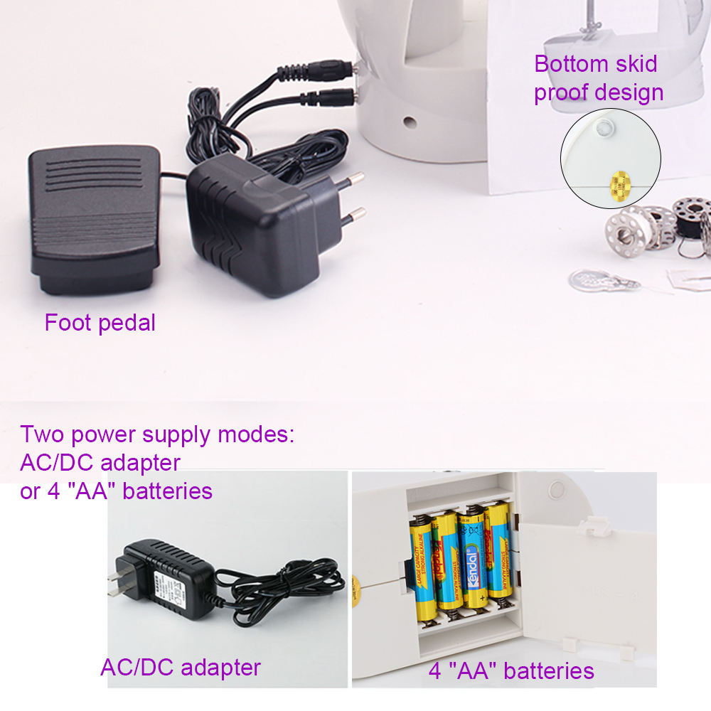 Garment Machine VOF FHSM-201 Mini Portable Home Electric Garment Sewing Machine For Clothes