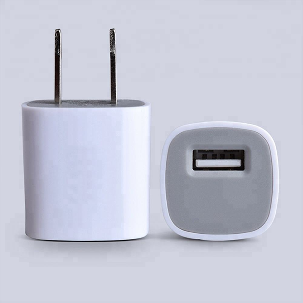 Mobile Phone 1A Single Port Cube Travel USB Charger Adapter USA for iPhone,one USB Wall Charger US Plug for Smartphones