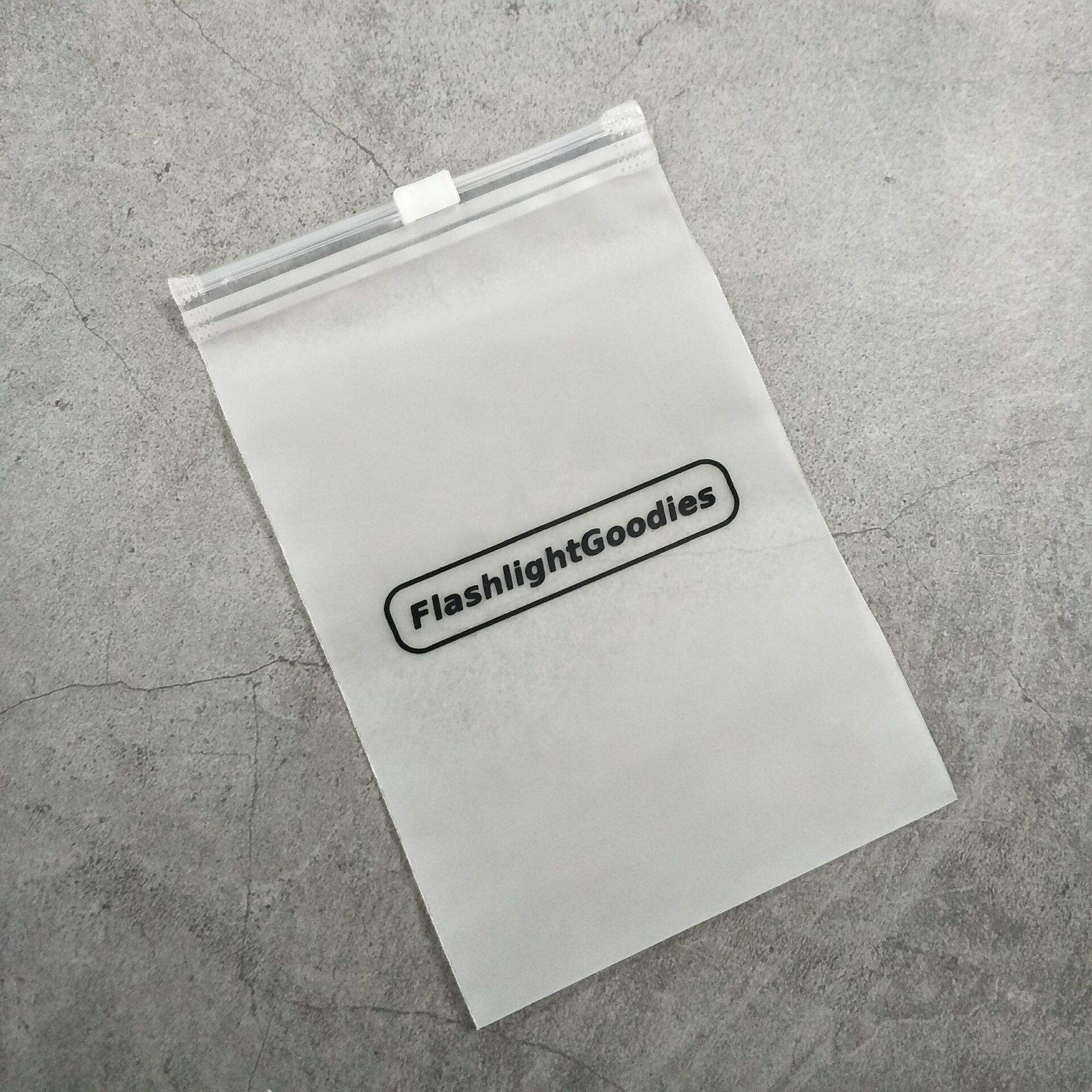 Biodegradable Custom Frosted Plastic PVC Zipper Bag With Logo