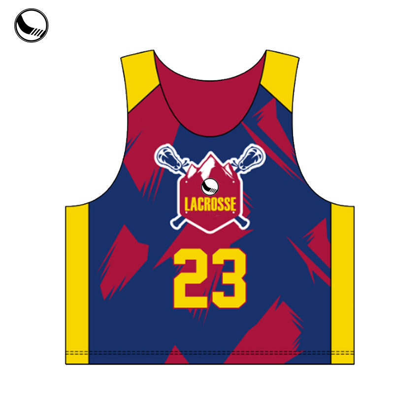 cheap custom wholesale lacrosse pinnies
