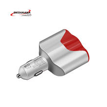 NEW High Quality dual usb Car charger with cigarette lighter