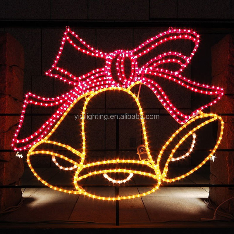 Festival bells motif led light outdoor street lights with christmas decorations