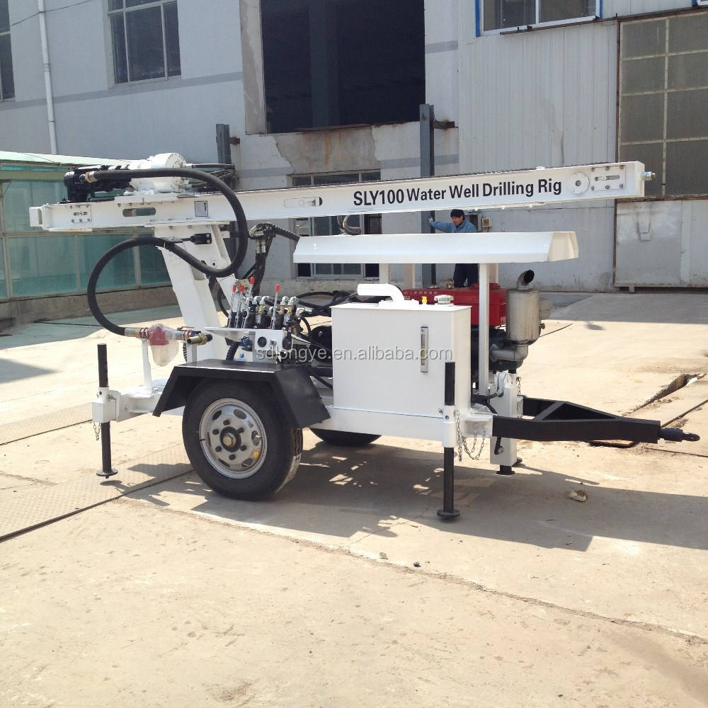 hydraulic small portable borehole water well drilling machine SLY100