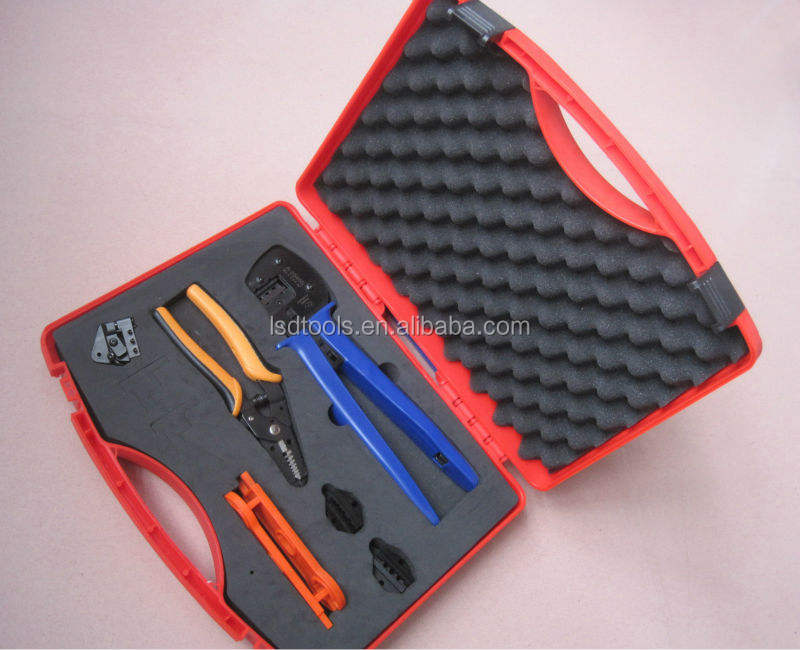 MC4 Solar PV Tool Kits,MC4 Tool Box For MC3/MC4/Tyco connector, Multifunction Solar Kit include Crimping/Cutting/Stripping Plier