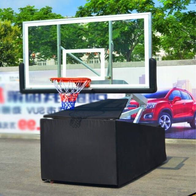Black color portable basketball hoop movable basketball hoop adult basketball hoop