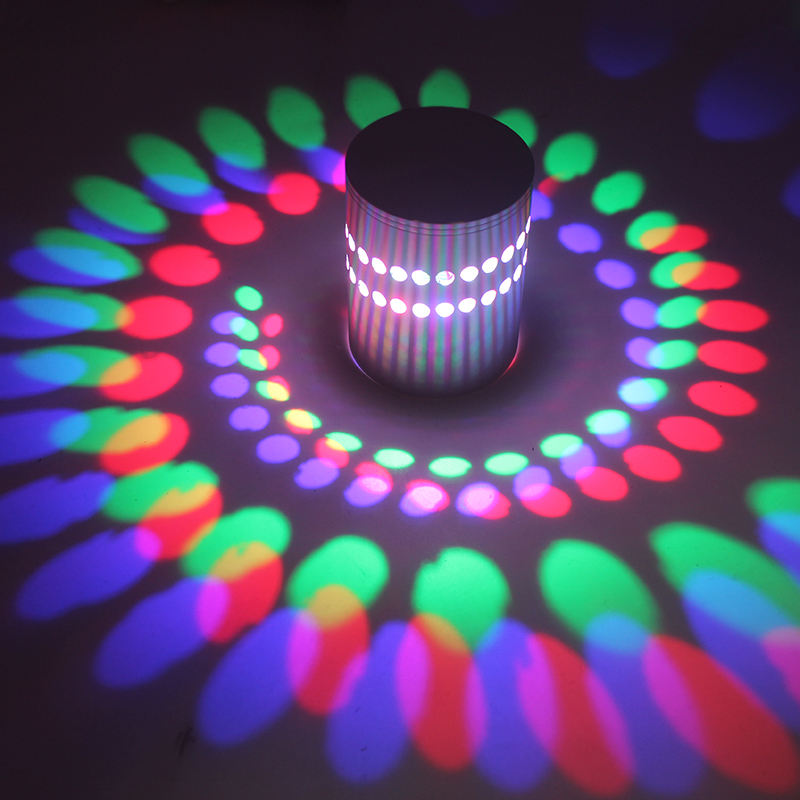 RGB Spiral Hole LED Wall Light Effect Wall Lamp With Remote Controller Colorful Wandlamp For Party Bar Lobby KTV Home Decoration