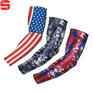 Custom Camo Bicycle UV Protection Arm Sleeve Shooting Football Basketball Volleyball Sport Running Compression Arm Sleeves