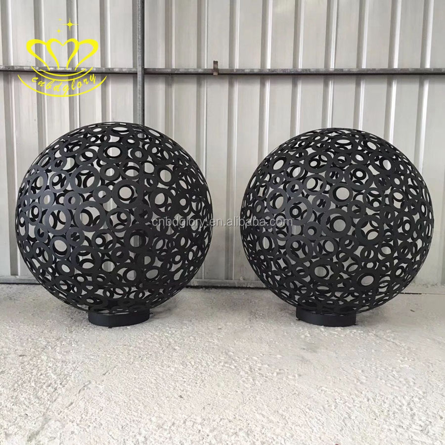 Hot Sale Home & Garden Decor Metal Craft New Product Stainless Steel Ball Sculpture