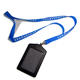 PU Card holder neck lanyard printed custom logo business lanyard pouch