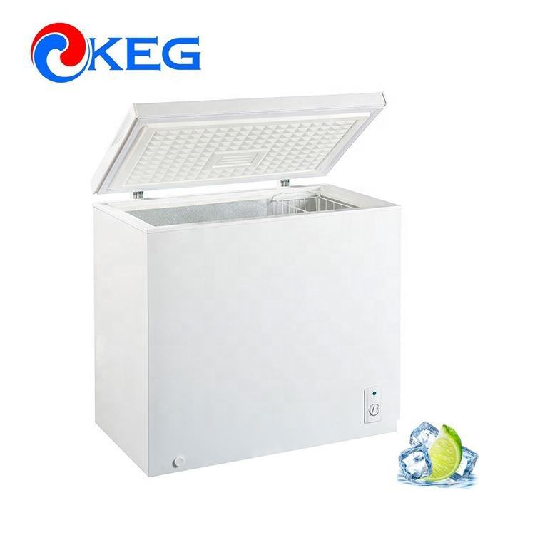 210L A+ DOE 2018 High Quality Top Open Single Door Deep Refrigerator Freezer