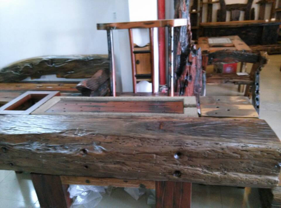 Reclaimed Ship Wood Table