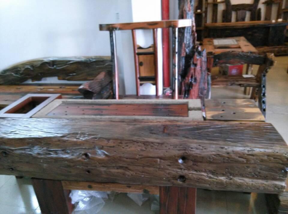 Reclaimed Ship Wood Table