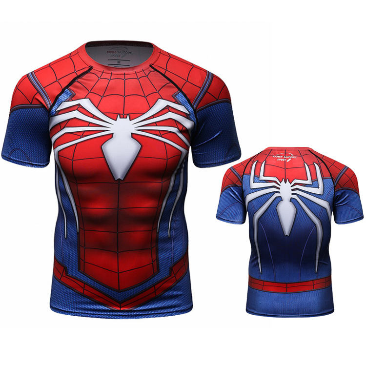 Cody lundin muscle shirts men marvel spider man clothes t shirt