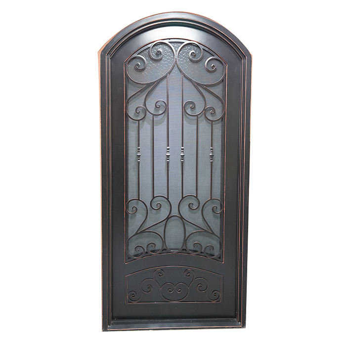 French Style Good Cheap Garden Wrought Iron Door Grill