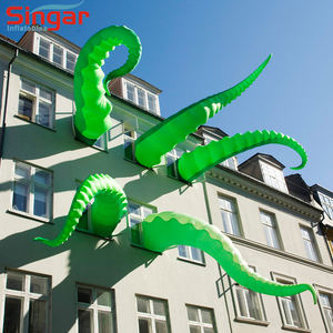 Groene opblaasbare sea monster inktvis voor building of pretpark thema park party decoraties