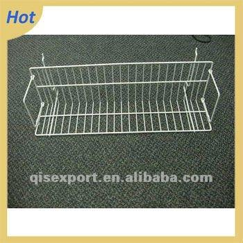 supermarket metal wire display cd/video shelf