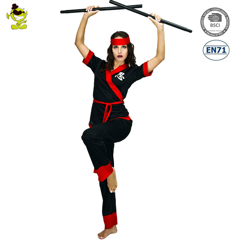 Wholesale Party Costume Japanese Ninja Woman Black Cosplay Costumes