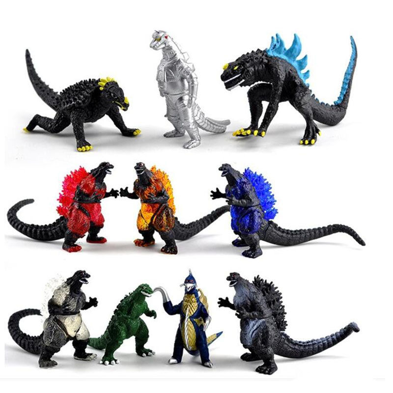 10pcs Godzilla figure Action Toy Best Gift for Kids home birthday decoration godzilla action figure