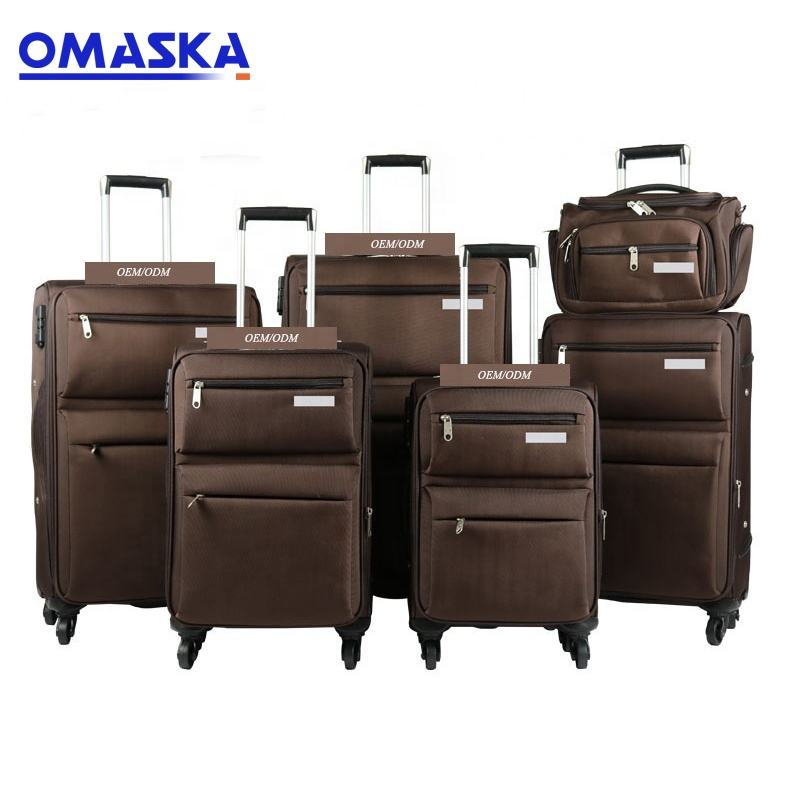 "Hot sale ISO certificate OEM spinner wheels 14""18""20""23""25'28"" wholesale 6 pieces set carry-on luggage"