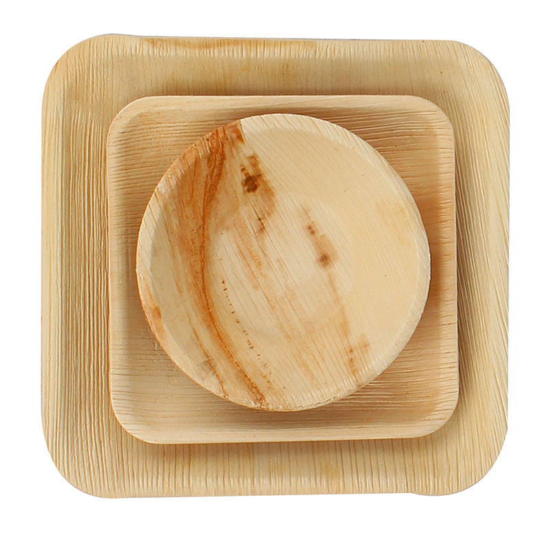palm leaf products Hot Sale party Palm Leaf charger Plates palm leaf tableware plates Dinner Plate Disposable