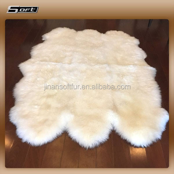 Low price Hotel Lobby big Carpet Genuine Sheepskin wholesale