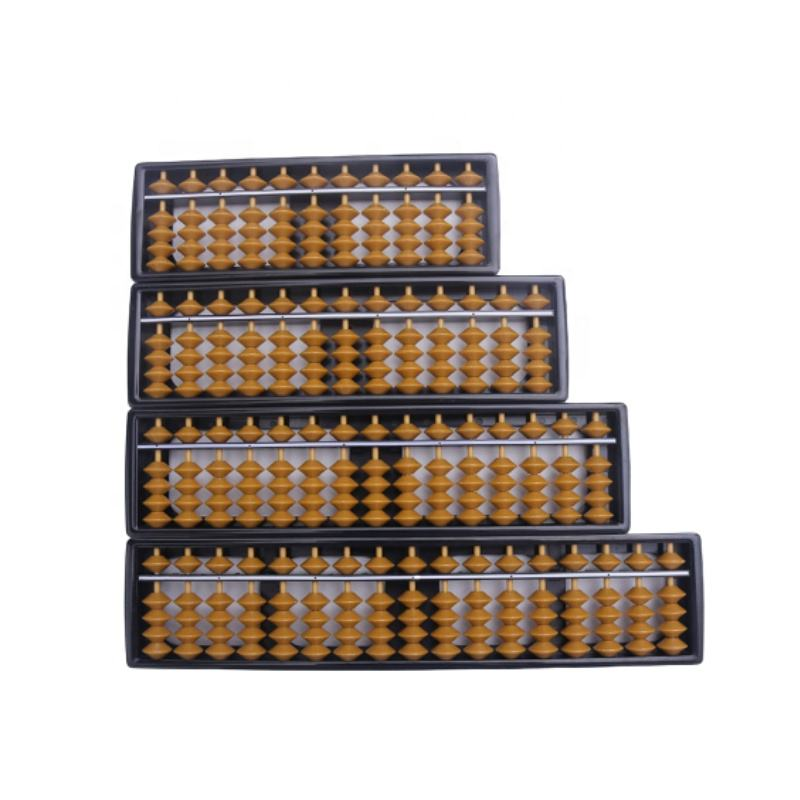 Student Abacus Soroban 7 9 11 13 15 17 Rods Brown Black ABS Plastic Beads Column OEM Custom Logo Cheap Abacus Soroban