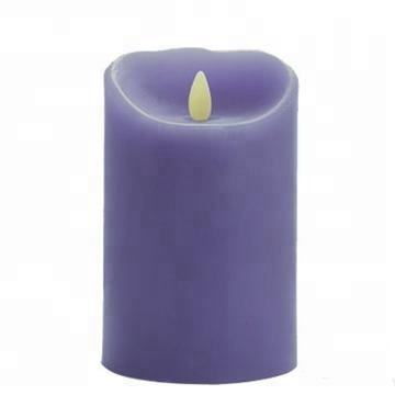lavender purple candle Mystique romantic glow led colorful fireless candles