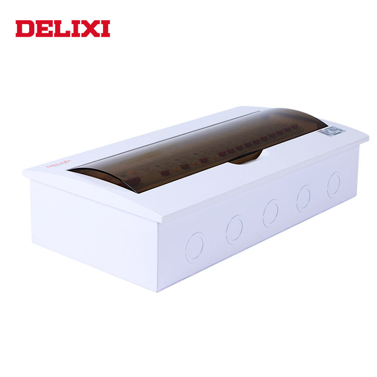 DELIXI CDPZ50 SERIES 20 way 24 way plastic surface mounting MCB electrical power distribution box