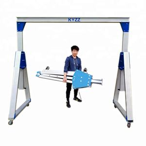 Adjustable Portable Mobile Gantry Cranes Aluminium, 0.5Ton 1 Ton Light Duty Mini Lifting Gantry Crane