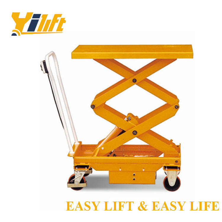 convenient use 500kgs powered in floor scissor lift