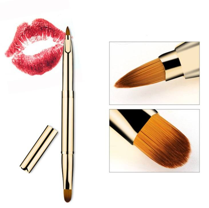 New Fashion Retrattile Labbro Pennello Eyeliner Portatile Correttore Eyeliner Rossetto Makeup Brush