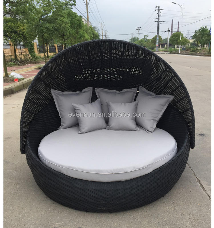 2016 Hot Sale Round Rattan Lounger for Beach