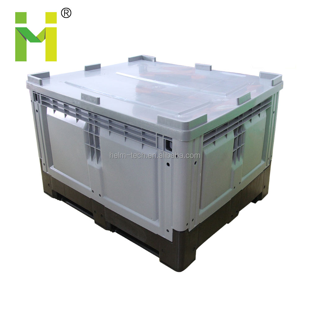 Euro size large plastic collapsible box pallet plastic crate