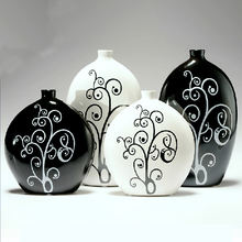 Different shaped vases home decoration pieces