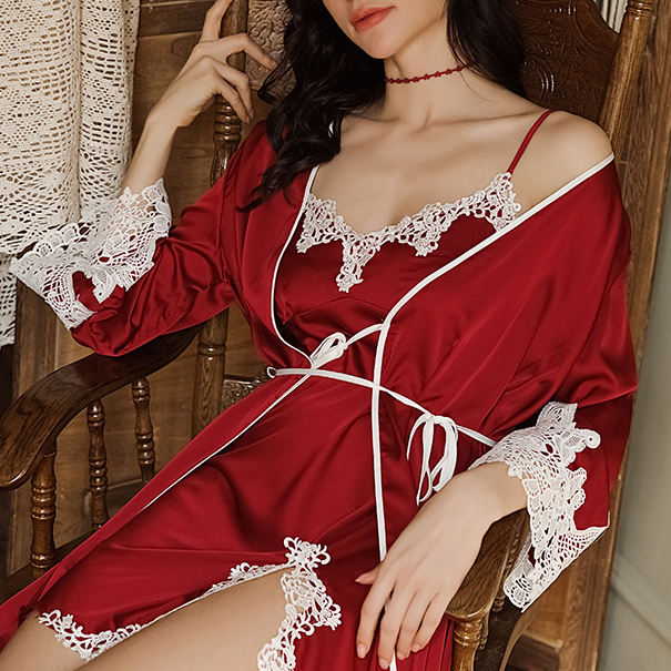 2019 Grosir Hot Sexy Sleep Wear Noda Kustom Piyama Wanita Set