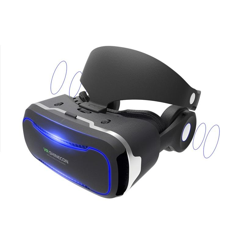 Virtual Reality 3D Headset, VR Glasses with Headphone, earphone better than VR and VR Shinecon