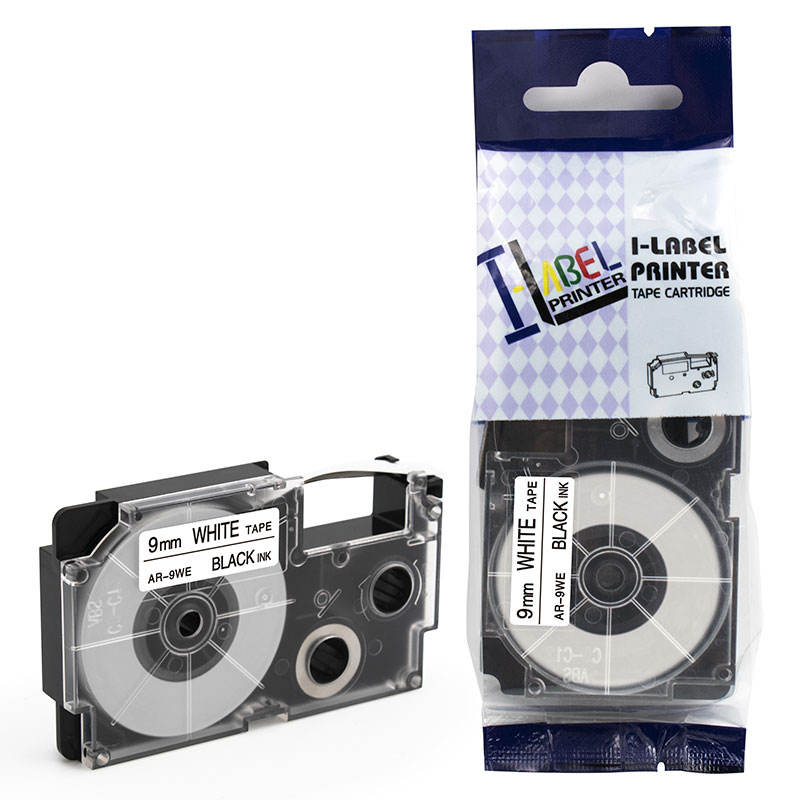 wholesale xiwing black on white 9mm XR-9WE compatible kl820 label tape for casio