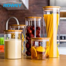 Wholesale round bottom fancy food storage coffee glass jar