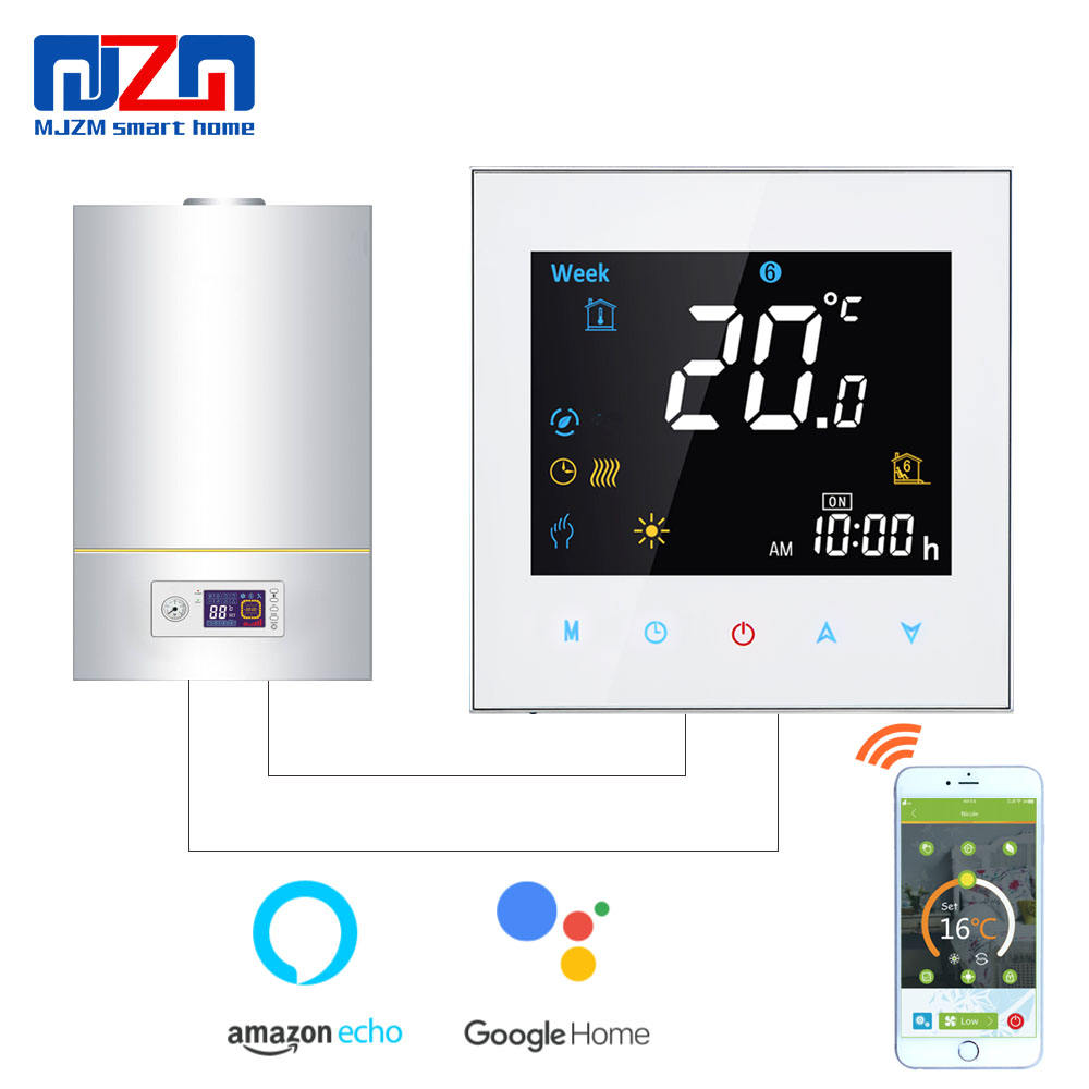MJZM BGL-3000-WiFi Thermostat Temperature Controller for Gas Boiler Heating Works With Alexa Google Home 3A