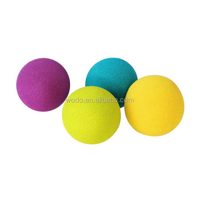 Design personnalisé 6 p livraison sécurité eva mousse jouet en caoutchouc coloré bébé balle