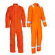 Red long sleeve cotton reflective construction workwear overalls for mining workers