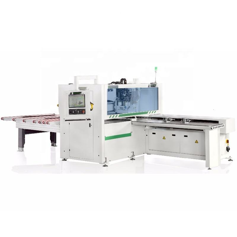 automatic CNC 6-sides boring machine NANXING machinery NCB2412 with two rout spindles