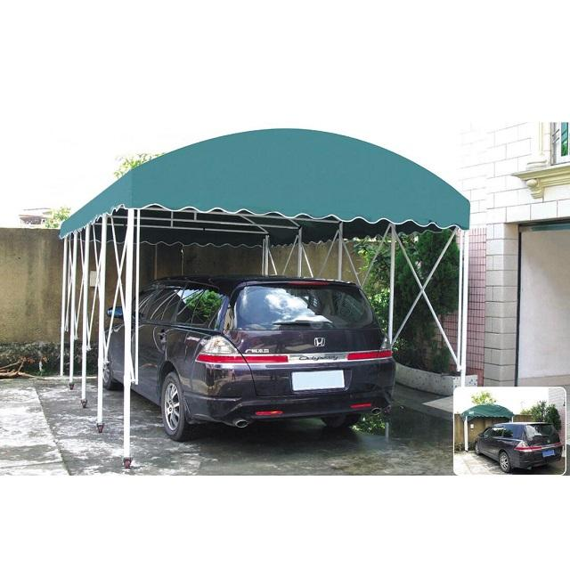 Waterproof Retractable Folding Carport Metal Frame Car Garage Shelter With Wheels