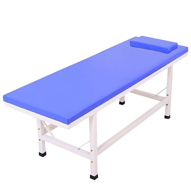 Blue Spa Furniture Manual Adjustable Beauty Bed Facial Couch Body Massage Table For Sale